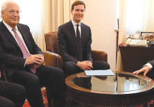 JASON GREENBLATT, David Friedman and Jared Kushner meet Prime Minister Benjamin Netanyahu in Jerusal