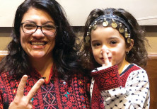 CONGRESSWOMAN RASHIDA TLAIB, the first Palestinian-American elected to the House, wears a traditiona