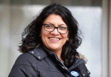 Democratic US congressional candidate Rashida Tlaib before Election Day in Michigan, 2018.