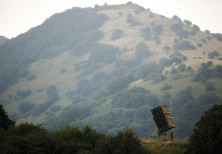 AN IRON DOME antimissile system is installed near the Israeli side of the border with Syria in the G