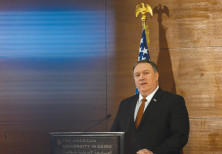 US SECRETARY of State Mike Pompeo speaks to students at the American University in Cairo