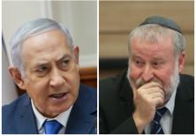 Prime Minister Benjamin Netanyahu (L) and Attorney-General Avichai Mandelblit (R)