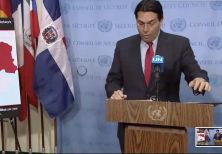 Israel ambassador to the UN Danny Danon speaks at the UNSC