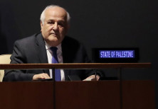Palestinian Ambassador to the United Nations Riyad Mansour at the United Nations in New York, U.S.,