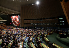 The United Nations General Assembly votes to adopt a draft resolution to deplore the use of excessiv
