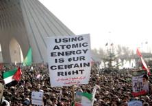 Iranians gather at Azadi (freedom) square to mark the 27th anniversary of Iran's Islamic Revolution