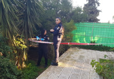 Scene of the stabbing attack on Sunday, February 17 - Jerusalem.