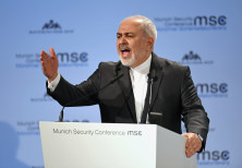 Iran's Foreign Minister Mohammad Javad Zarif speaks during the annual Munich Security Conference