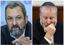 Former Prime Minister Ehud Barak and Attorney-General Avichai Mandelblit