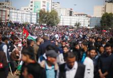 PALESTINIANS PROTEST in Gaza City.