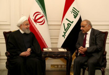 Iraq's Prime Minister Adel Abdul Mahdi meets Iranian President Hassan Rouhani in Baghdad, Iraq