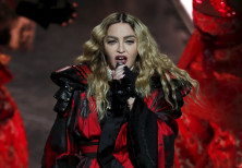 Madonna performs during her Rebel Heart Tour concert at Studio City in Macau, China February 20, 201