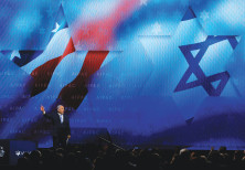 PM Benjamin Netanyahu speaks at the AIPAC Policy Conference in Washington. (Brian Snyder/Reuters)