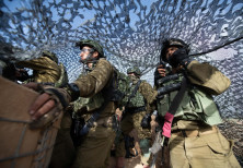 IDF soldiers on the Gaza border
