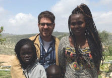A.Y. KATSOF with Piath Aguar and her two children, Ayen and Bior, celebrating their new life