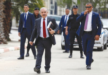 HEADED TOWARD conflict? Palestinian Prime Minister Mohammad Shtayyeh arrives for a cabinet meeting