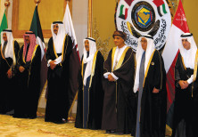 SAUDI ARABIA'S envoy and other Gulf states gather in Kuwait in 2017.