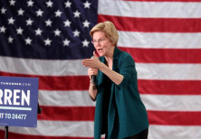 Democratic 2020 U.S. presidential candidate and U.S. Senator Elizabeth Warren (D-MA)