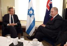 Bill Shorten, leader of Australia's Labor Party, meets with Israeli PM Benjamin Netanyahu