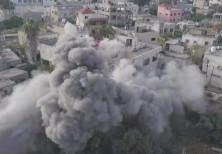 IDF demolishes the home of a terrorist.
