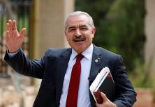 PA Prime Minister Mohammad Shtayyeh in Ramallah, April 15, 2019