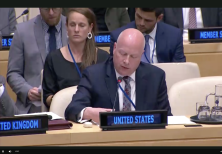 US special envoy Jason Greenblatt at the UNSC Arria-formula meeting in New York