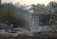 Damages from fires that raged throughout Israel, May 23