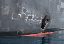 A U.S. military image released by the Pentagon in Washington on June 17 shows what the Navy says is