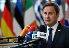 Luxembourg's Prime Minister Xavier Bettel speaks to media in Brussels, Belgium July 2, 2019