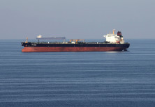 Oil tankers pass through the Strait of Hormuz