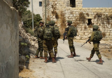 IDF soldiers searching in the West Bank for the terrorists who killed Rina Shnerb, August 2019
