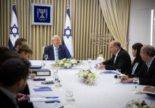 President Rivlin with members of Blue and White