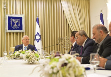 President Reuven Rivlin with heads of the Joint Arab List