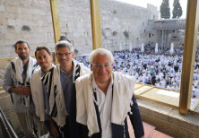 U.S. Ambassador to Israel David Friedman at the Priestly blessing event at the Western Wall, 2019