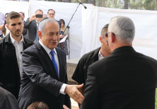 WILL THEY meet in the next government? Prime Minister Benjamin Netanyahu and Benny Gantz at the memo
