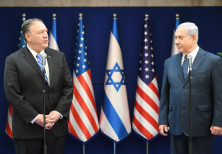 US Secretary of State Mike Pompeo and Prime Minister Benjamin Netanyahu meet in Jerusalem, October 1