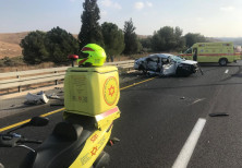 A deadly car crash on Israel's Route 6.