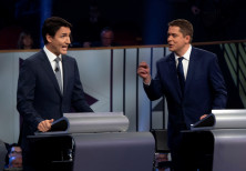 Justin Trudeau and Conservative leader Andrew Scheer