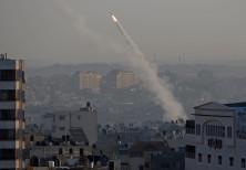 Rocket fired from Gaza toward Israel, November 12, 2019