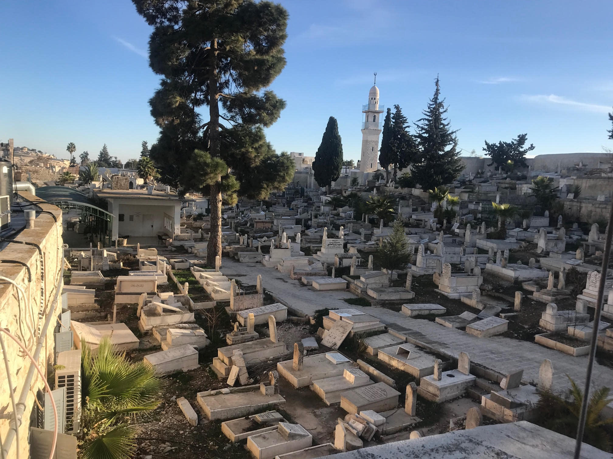 The East Jerusalem cemetery where Fakhri Nashashibi is buried (Seth J. Frantzman)