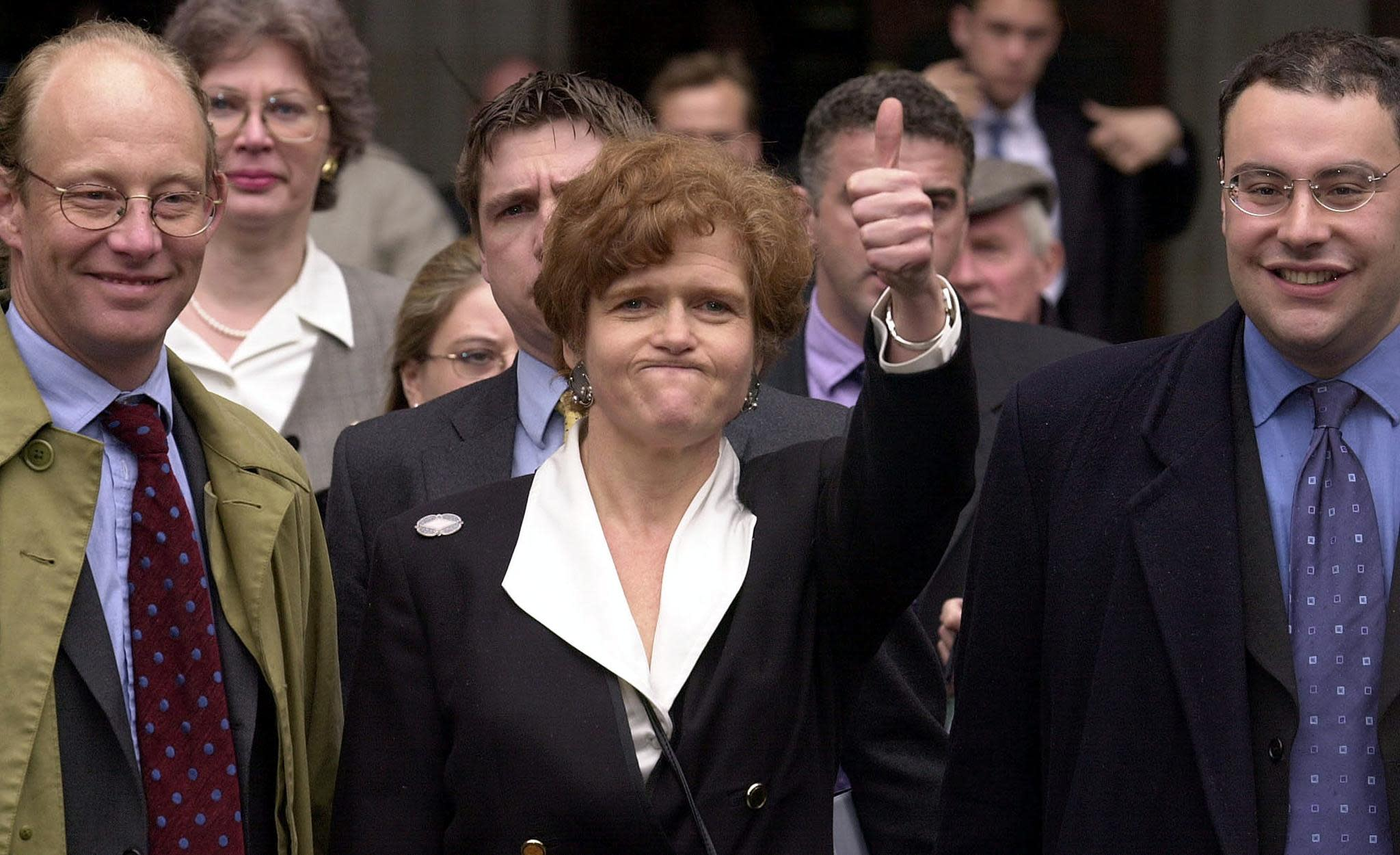 """Lipstadt had described Irving in her 1994 book as a """"Holocaust denier"""" for his claims that Jews were not systematically exterminated by the Nazis during the Second World War. (Martin Hayhow/AFP)"""