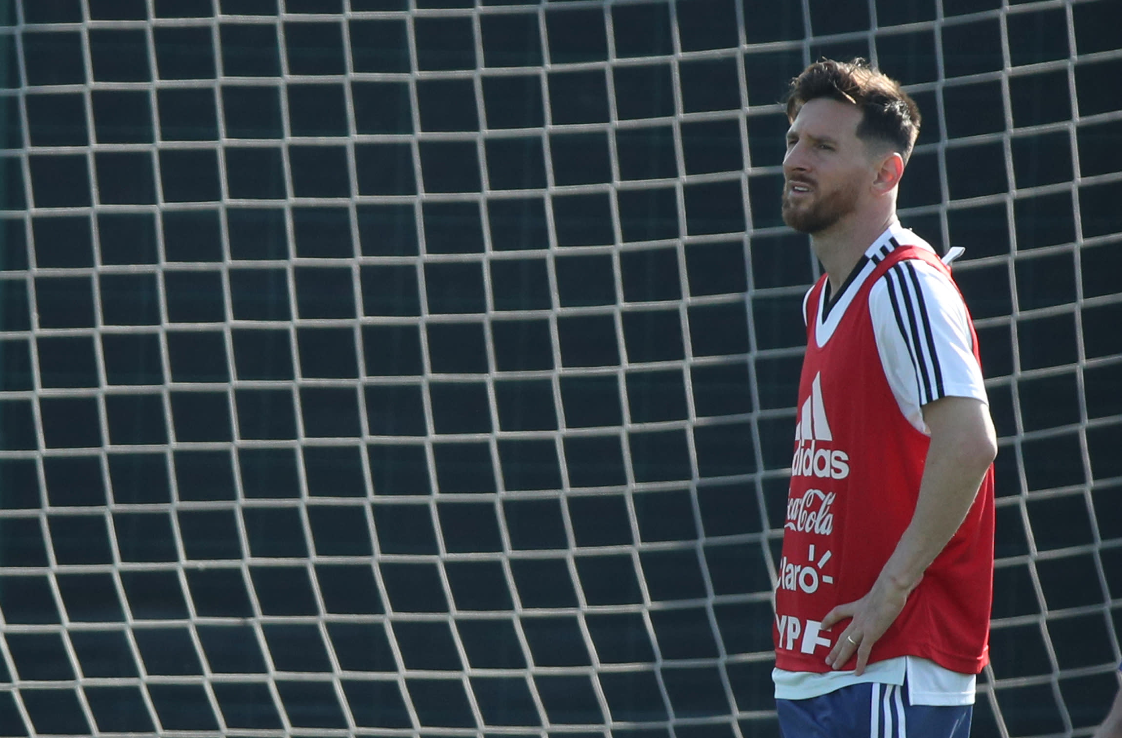 Argentina's Lionel Messi in training (Reuters)