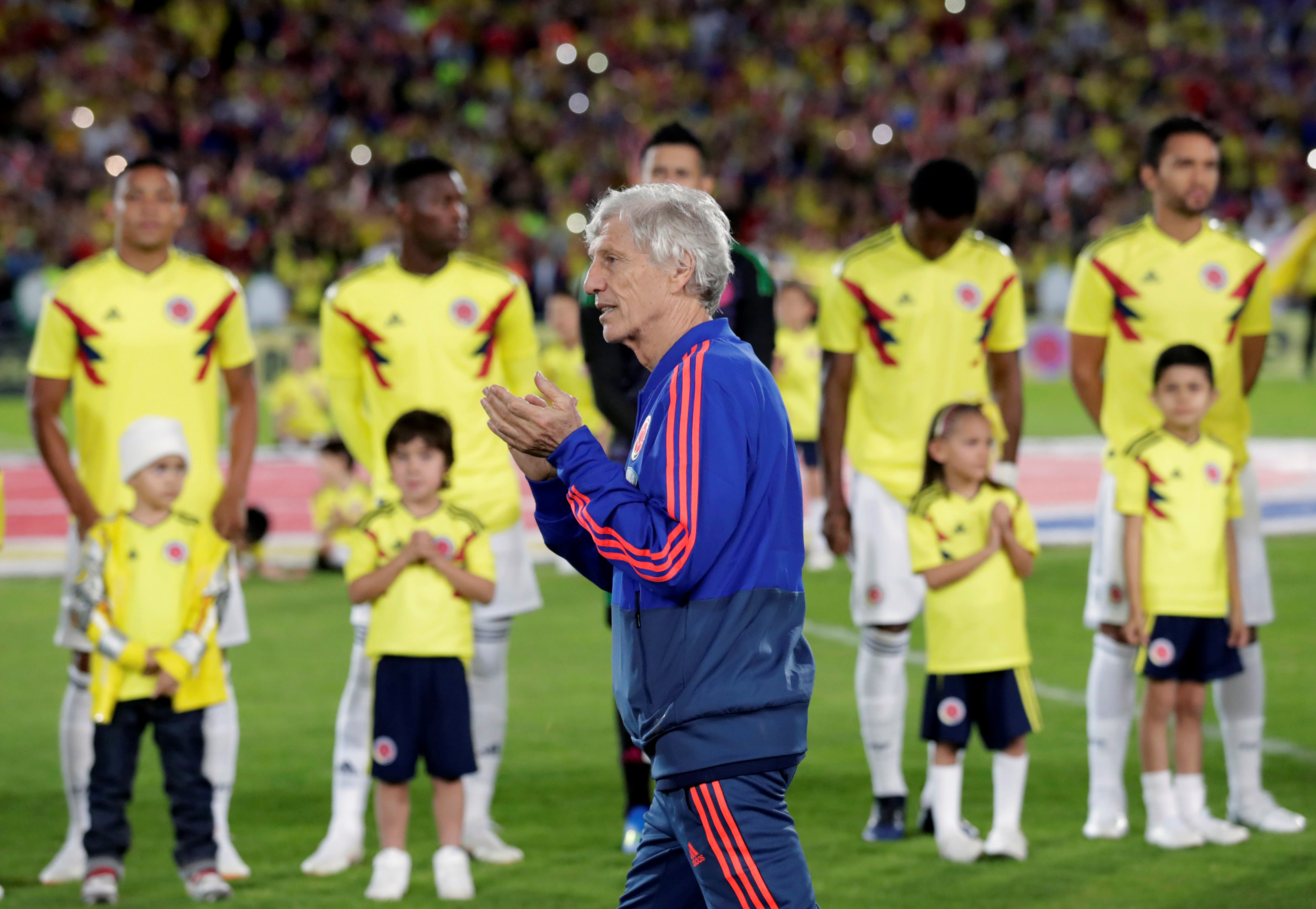 Colombia's national soccer coach Jose Pekerman ahead of the upcoming FIFA World Cup Russia 2018 (REUTERS/HENRY ROMERO)