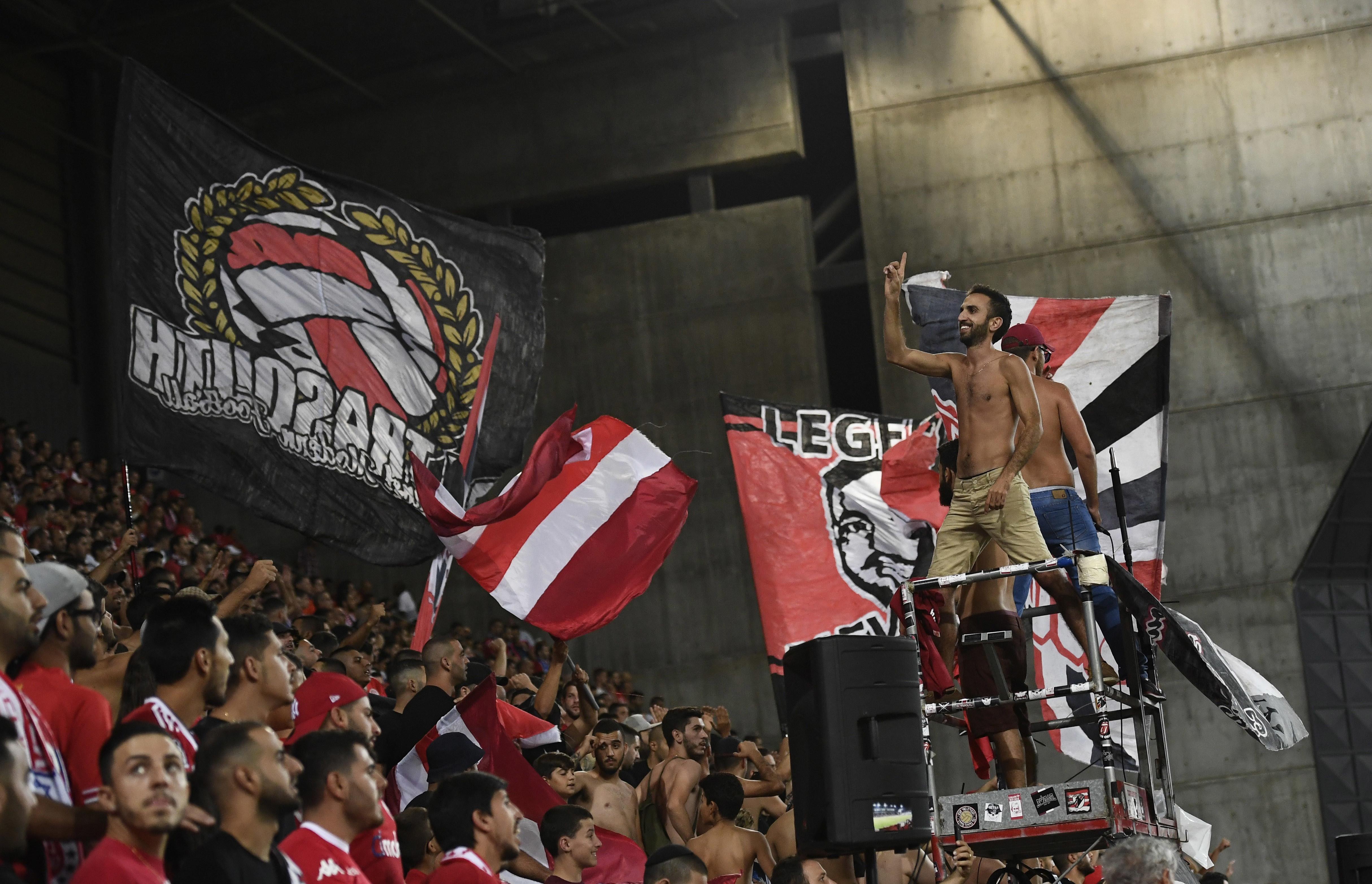 Fans of Israeli soccer team Hapoel Beersheba (Reuters)