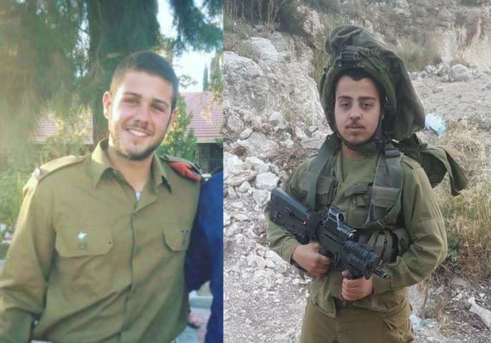 Capt. Ziv Daus and Sgt. Netanel Kahalani (Social Media)