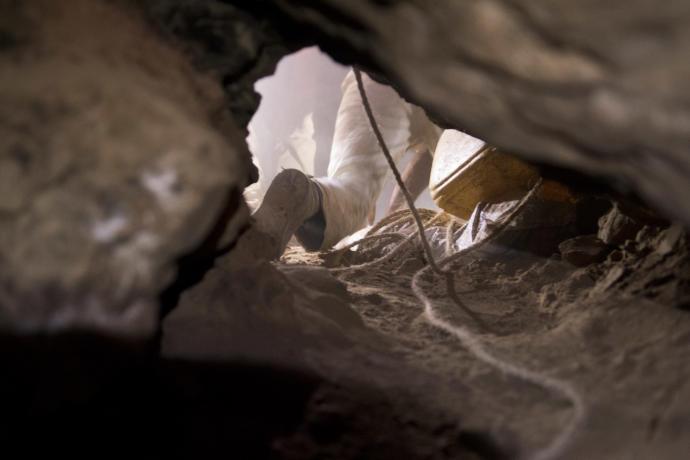 Excavations at Qumran (SHAI HALEVY/IAA).