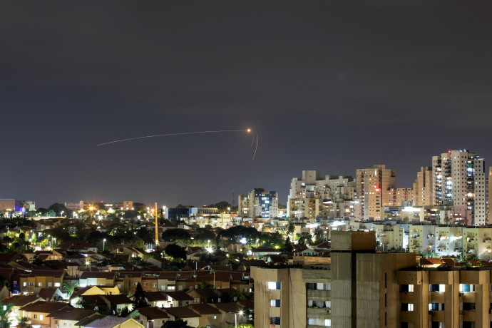 Streaks of light are seen as Israel's Iron Dome anti-missile system intercepts a rocket launched from the Gaza Strip towards Israel, as seen from Ashkelon, September 11, 2021REUTERS/AMMAR AWAD