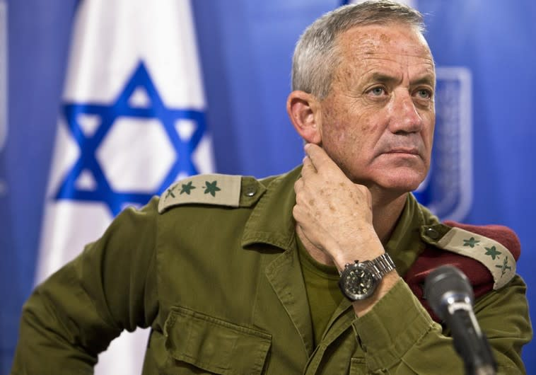 Former IDF Chief of Staff Benny Gantz (Reuters)