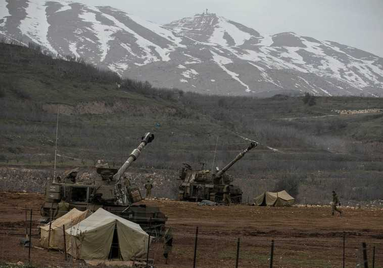 IDF soldiers near the border with Syria in the Golan Heights (Reuters)