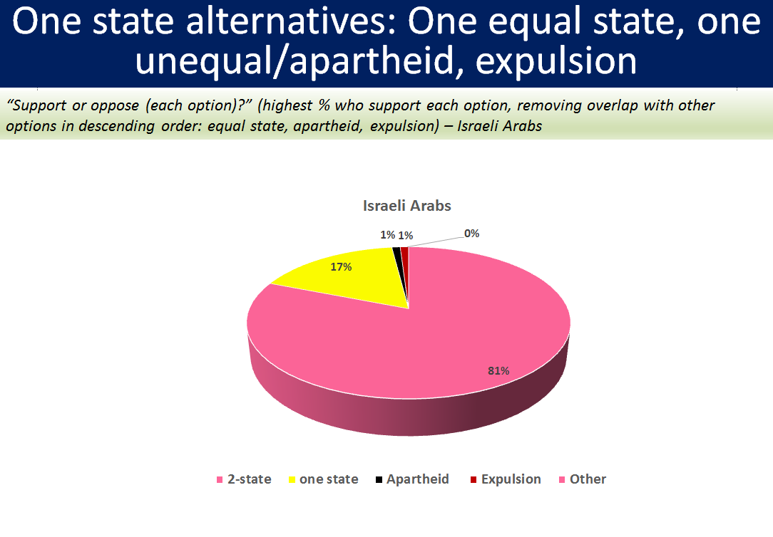 Joint poll measures support for alternatives to two-state solution.